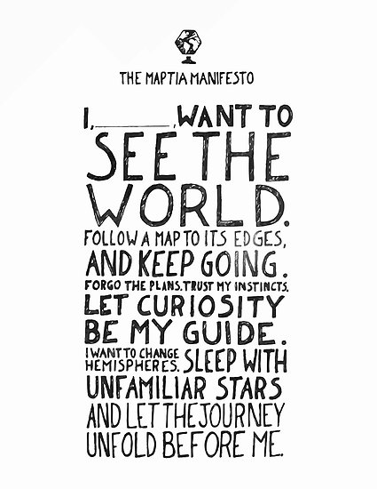 i want to see the world - manifesto