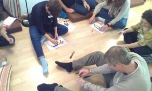 Equipo de trabajo explorando nuevos lenguajes. Sesión con Playtoon