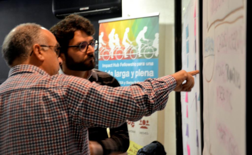 JAO y yo trabajando sobre el cambio intencional de una organización